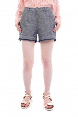 Solid Denim Grey Short