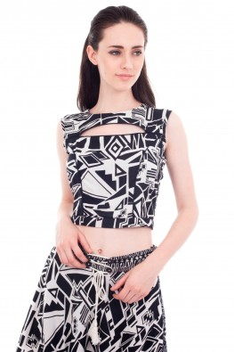 Rayon Cut Out CropTop