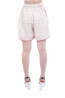 Checkered Rayon Straight Fit Short