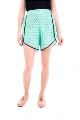 Lace Fabric Wrap Short