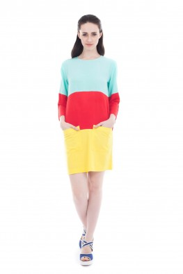 Solid Rayon Patch detailing Top