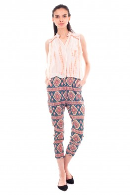 Beautiful Print with Tie & Dye Detailing Jumpsuit