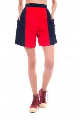Solid Rayon A-Line Short