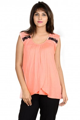 Tulip-front casual nursing top