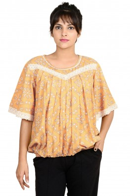 Blouson butterfly sleeve casual nursing top