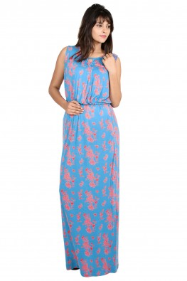 Floral print nursing maxi dress