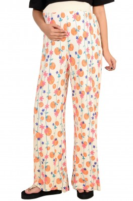 Cherry print maternity leisure pants