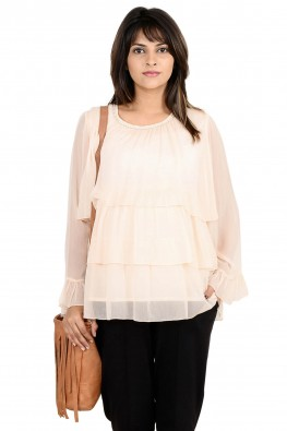 Tiered chiffon going-out/officewear  maternity blouse