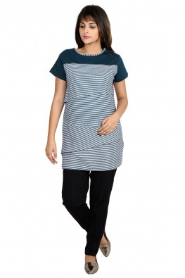 Asymmetrical layer nursing top