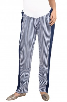 Maternity striped leisure pants