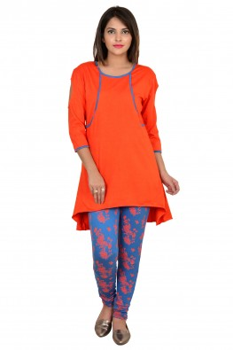 9teenAGAIN High-low tunic & legging nightwear set