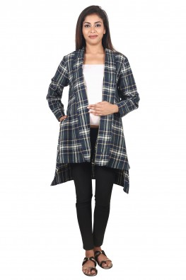9teenAGAIN Women's Maternity Plaid Woolen Shrug
