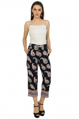 Paisley print leisure pants