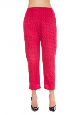 9teenAGAIN Red lace pants