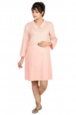 Solid And Printed Nursing Tunic