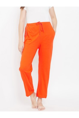 9teenAGAIN Women's Hosiery Pyjama (Orange)