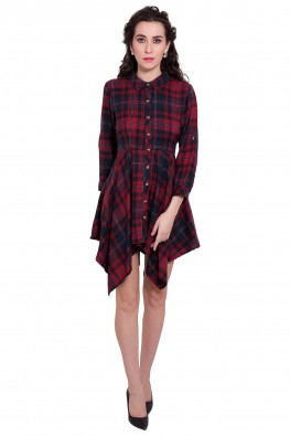 9teenagain  checkered shirt dress