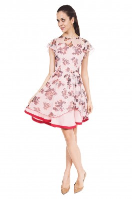 9TEENAGAIN  PEACH DRESS