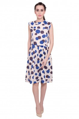 9teenagain polka dots flared dress