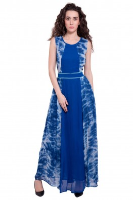 9teenagain tie-dye effect maxi dress