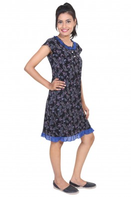 9TEENAGAIN PAISELY PRINTED HOSIERY SHORT NIGHT DRESS