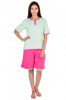 Beautiful Tee and Shorts Night Suit Set