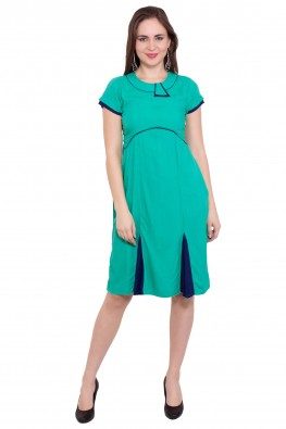9teenagain a pretty sheath green fit and flare dress