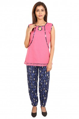 Pink & blue nursing nightsuit set